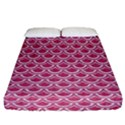 SCALES2 WHITE MARBLE & PINK DENIM Fitted Sheet (California King Size) View1