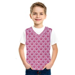 Scales2 White Marble & Pink Denim Kids  Sportswear