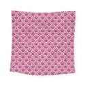 SCALES2 WHITE MARBLE & PINK DENIM Square Tapestry (Small) View1