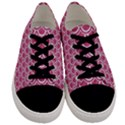 SCALES2 WHITE MARBLE & PINK DENIM Men s Low Top Canvas Sneakers View1