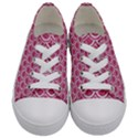 SCALES2 WHITE MARBLE & PINK DENIM Kids  Low Top Canvas Sneakers View1