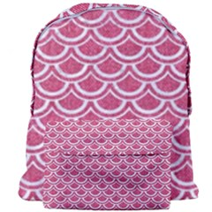Scales2 White Marble & Pink Denim Giant Full Print Backpack by trendistuff