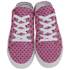 Scales2 White Marble & Pink Denim Half Slippers