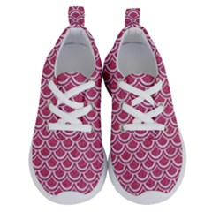 Scales2 White Marble & Pink Denim Running Shoes