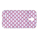SCALES1 WHITE MARBLE & PINK DENIM (R) Samsung Galaxy S4 I9500/I9505 Hardshell Case View1