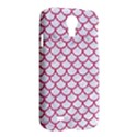 SCALES1 WHITE MARBLE & PINK DENIM (R) Samsung Galaxy S4 I9500/I9505 Hardshell Case View2