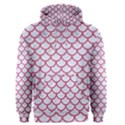 SCALES1 WHITE MARBLE & PINK DENIM (R) Men s Pullover Hoodie View1