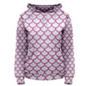 SCALES1 WHITE MARBLE & PINK DENIM (R) Women s Pullover Hoodie View1