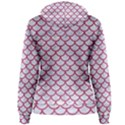 SCALES1 WHITE MARBLE & PINK DENIM (R) Women s Pullover Hoodie View2