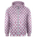 SCALES1 WHITE MARBLE & PINK DENIM (R) Men s Zipper Hoodie View1