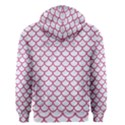 SCALES1 WHITE MARBLE & PINK DENIM (R) Men s Zipper Hoodie View2