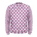 SCALES1 WHITE MARBLE & PINK DENIM (R) Men s Sweatshirt View1