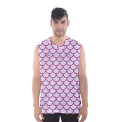 Scales1 White Marble & Pink Denim (r) Men s Basketball Tank Top