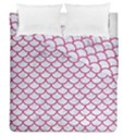 SCALES1 WHITE MARBLE & PINK DENIM (R) Duvet Cover Double Side (Queen Size) View1