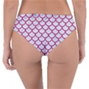 SCALES1 WHITE MARBLE & PINK DENIM (R) Reversible Classic Bikini Bottoms View4