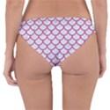 SCALES1 WHITE MARBLE & PINK DENIM (R) Reversible Hipster Bikini Bottoms View4