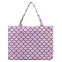 SCALES1 WHITE MARBLE & PINK DENIM (R) Medium Tote Bag View1