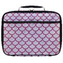 SCALES1 WHITE MARBLE & PINK DENIM (R) Full Print Lunch Bag View1