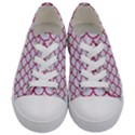 SCALES1 WHITE MARBLE & PINK DENIM (R) Kids  Low Top Canvas Sneakers View1