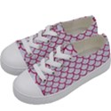 SCALES1 WHITE MARBLE & PINK DENIM (R) Kids  Low Top Canvas Sneakers View2