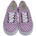 SCALES1 WHITE MARBLE & PINK DENIM (R) Kids  Classic Low Top Sneakers View1
