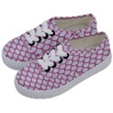 SCALES1 WHITE MARBLE & PINK DENIM (R) Kids  Classic Low Top Sneakers View2