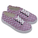 SCALES1 WHITE MARBLE & PINK DENIM (R) Kids  Classic Low Top Sneakers View3