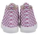 SCALES1 WHITE MARBLE & PINK DENIM (R) Kid s Mid-Top Canvas Sneakers View4
