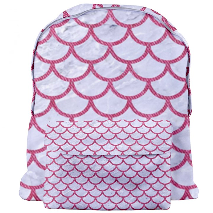 SCALES1 WHITE MARBLE & PINK DENIM (R) Giant Full Print Backpack