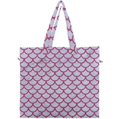 Scales1 White Marble & Pink Denim (r) Canvas Travel Bag