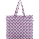 SCALES1 WHITE MARBLE & PINK DENIM (R) Canvas Travel Bag View1