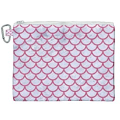 Scales1 White Marble & Pink Denim (r) Canvas Cosmetic Bag (xxl)