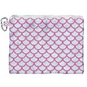 SCALES1 WHITE MARBLE & PINK DENIM (R) Canvas Cosmetic Bag (XXL) View1