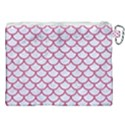 SCALES1 WHITE MARBLE & PINK DENIM (R) Canvas Cosmetic Bag (XXL) View2
