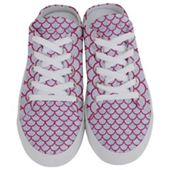 Scales1 White Marble & Pink Denim (r) Half Slippers