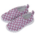 SCALES1 WHITE MARBLE & PINK DENIM (R) Velcro Strap Shoes View2