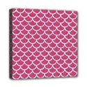 SCALES1 WHITE MARBLE & PINK DENIM Mini Canvas 8  x 8  View1
