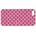 SCALES1 WHITE MARBLE & PINK DENIM Apple iPhone 5 Hardshell Case with Stand View1