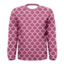 SCALES1 WHITE MARBLE & PINK DENIM Men s Long Sleeve Tee View1