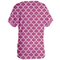 SCALES1 WHITE MARBLE & PINK DENIM Women s Oversized Tee View2