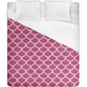 SCALES1 WHITE MARBLE & PINK DENIM Duvet Cover (California King Size) View1