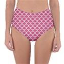 SCALES1 WHITE MARBLE & PINK DENIM Reversible High-Waist Bikini Bottoms View3