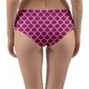 SCALES1 WHITE MARBLE & PINK DENIM Reversible Mid-Waist Bikini Bottoms View4