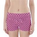 SCALES1 WHITE MARBLE & PINK DENIM Boyleg Bikini Wrap Bottoms View1