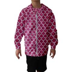 Scales1 White Marble & Pink Denim Hooded Windbreaker (kids)