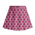 SCALES1 WHITE MARBLE & PINK DENIM Mini Flare Skirt View1