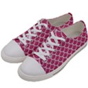 SCALES1 WHITE MARBLE & PINK DENIM Women s Low Top Canvas Sneakers View2