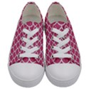 SCALES1 WHITE MARBLE & PINK DENIM Kids  Low Top Canvas Sneakers View1
