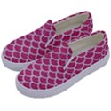 SCALES1 WHITE MARBLE & PINK DENIM Kids  Canvas Slip Ons View2