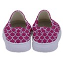 SCALES1 WHITE MARBLE & PINK DENIM Kids  Canvas Slip Ons View4